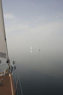 EIndelijk op zee.