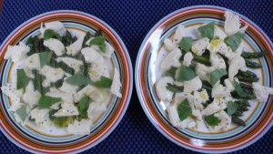 gegrilde puntasperges met mozarella