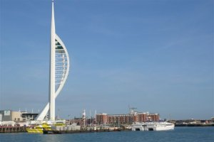 De Spinnaker Tower.